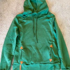 NEW Green Hooded Sweatshirt, size M/L